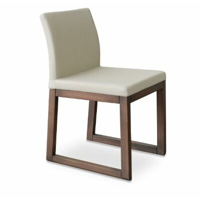 Aria Upholstered Dining Chair Color: PPM Cream