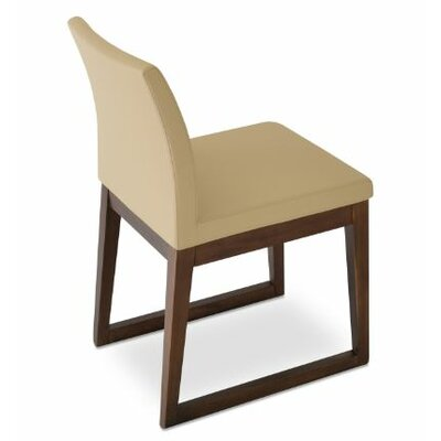 Aria Upholstered Dining Chair Color: PPM Brown