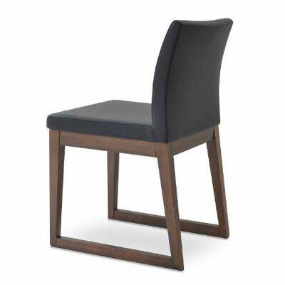 Aria Upholstered Dining Chair Color: Charcoal
