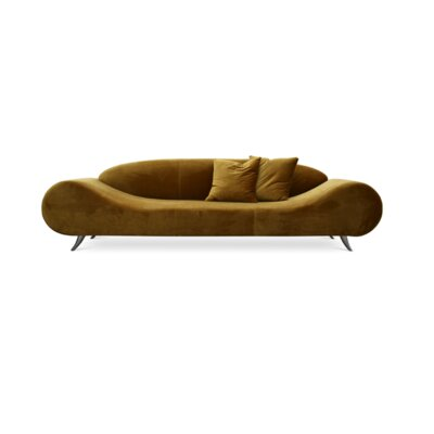Harmony Sofa Upholstery Color: Velvet Gold