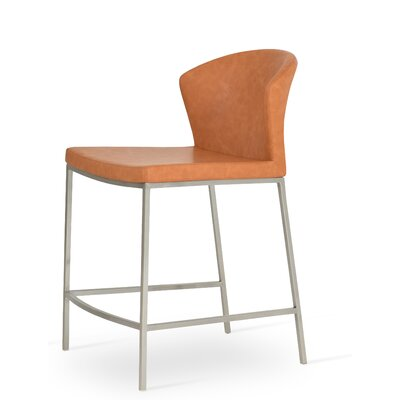 Capri 29 Bar Stool Upholstery: Caramel