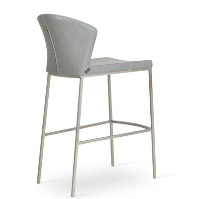 Capri 29 Bar Stool Upholstery: Light Gray