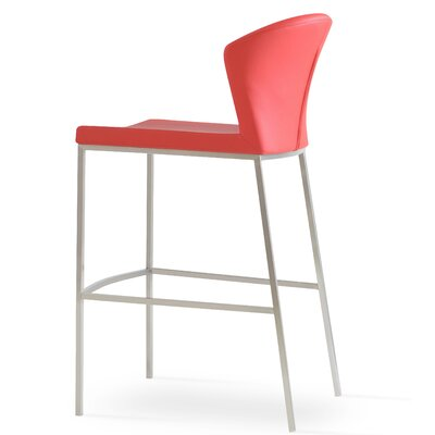 Capri 29 Bar Stool Upholstery: Red
