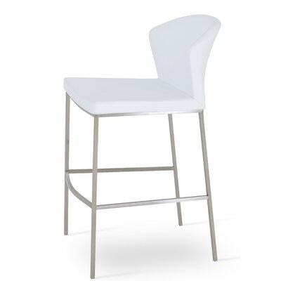 Capri 29 Bar Stool Upholstery: White