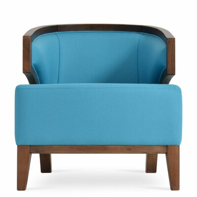 Mostar Arm Barrel Chair Upholstery: Turquise