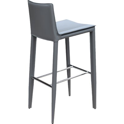 Tiffany 29.5 Bar Stool Upholstery: Grey