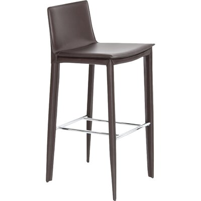 Tiffany 29.5 Bar Stool Upholstery: Brown