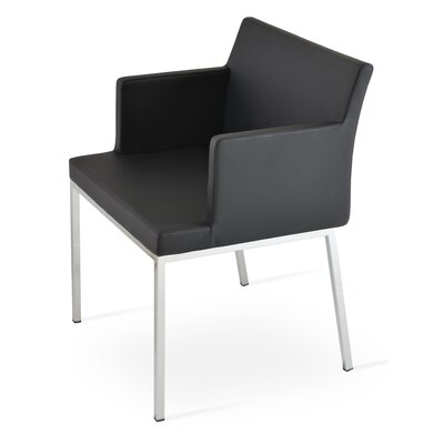 Parma Arm Chair Upholstery Type: Leatherette -  Black