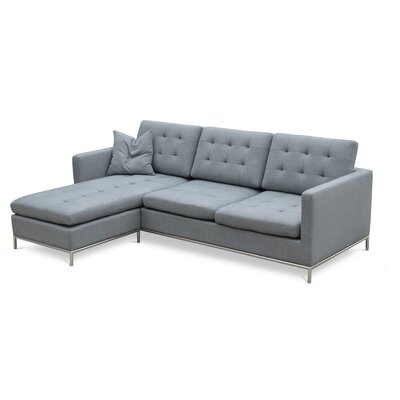 Taxim Reversible Sectional Upholstery: Wool Fabric - Charcoal
