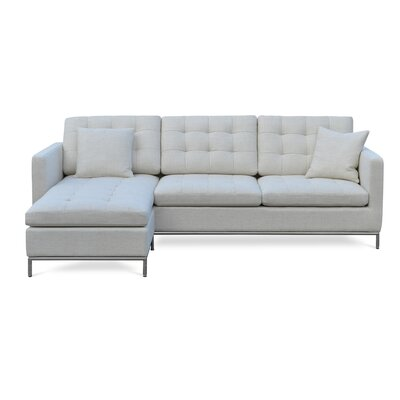 Taxim Reversible Sectional Upholstery: Tweed - Cream
