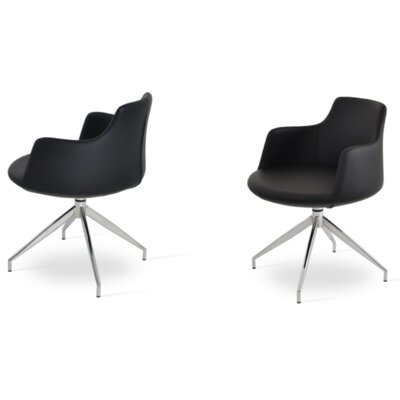Dervish Spider Arm Chair Upholstery Type - Color: Leatherette - Black