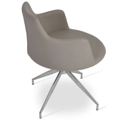 Dervish Spider Arm Chair Upholstery Type - Color: Leatherette - Bone