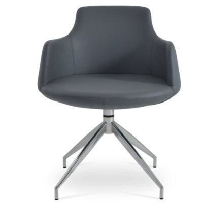 Dervish Spider Arm Chair Upholstery Type - Color: Leatherette - Gray