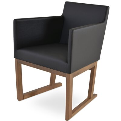 Beverly Sled Arm Chair Upholstery Type - Color: Leatherette - Black