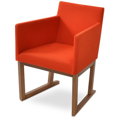 Beverly Sled Arm Chair Upholstery Type - Color: Wool - Orange