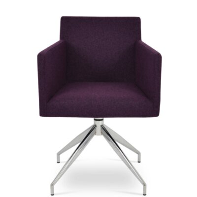 Harput Spider Arm Chair Upholstery Type - Color: Wool - Deep Maroon