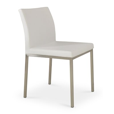Aria Parsons Chair Upholstery: Leatherette - White