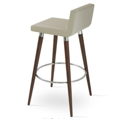 Dallas Wood 29 Bar Stool Upholstery: Light Gray