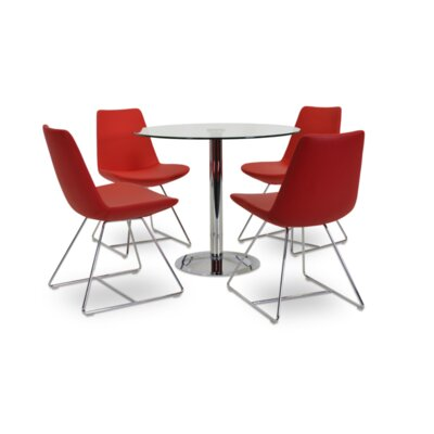 Eiffel Wire Upholstered Dining Chair Upholstery: Red