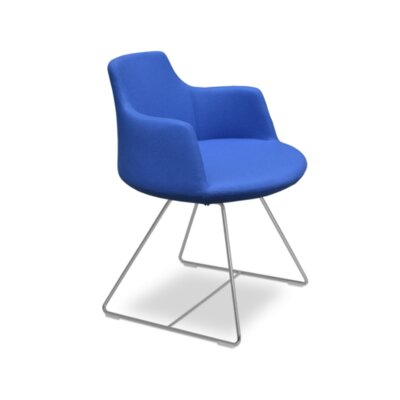 Dervish Wire Chair Upholstery: Camira Wool - Sky Blue