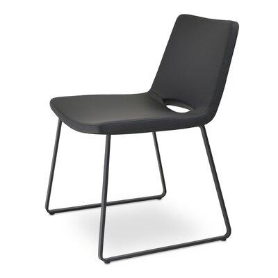 Nevada Side Chair Finish: Chrome, Upholstery: Black