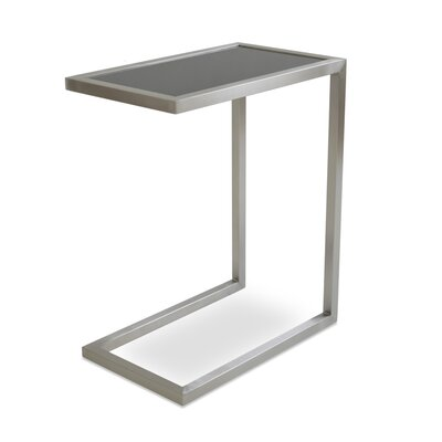 Alfa End Table Color: Black Glass