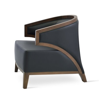 Mostar Arm Barrel Chair Color: Black