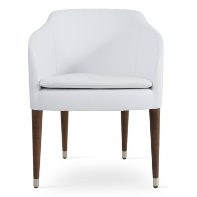 Buca Wood Arm Chair Upholstery: White