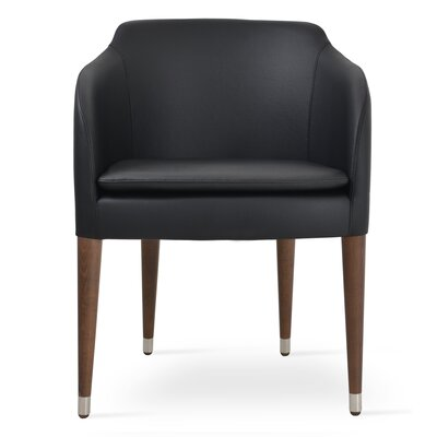Buca Wood Arm Chair Upholstery: Dark Gray