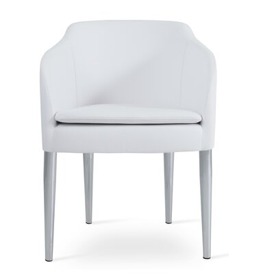 Buca Arm Chair Upholstery: White