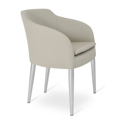 Buca Arm Chair Upholstery: Light Gray