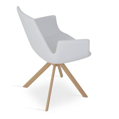 Eiffel Arm Sword Upholstery: PPM - White, Finish: Natural