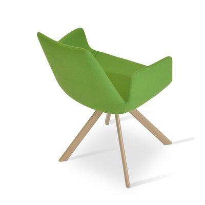 Eiffel Arm Sword Upholstery: Wool - Pistachio Camira, Finish: Natural