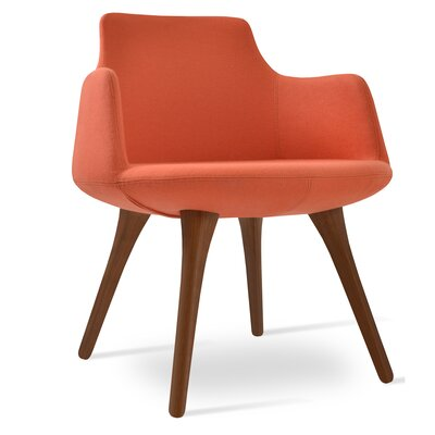Dervish Arm Chair Upholstery: Orange