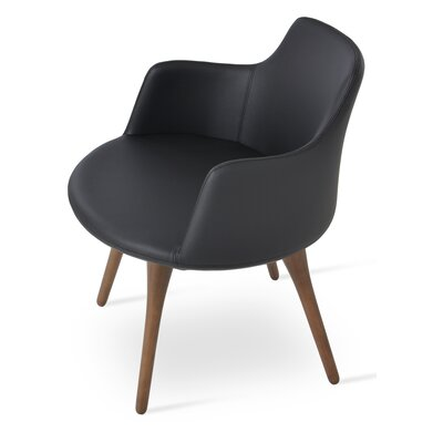 Dervish Arm Chair Upholstery: Black