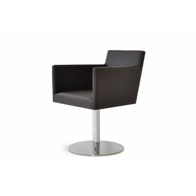 Harput Round Swivel Arm Chair Finish: White