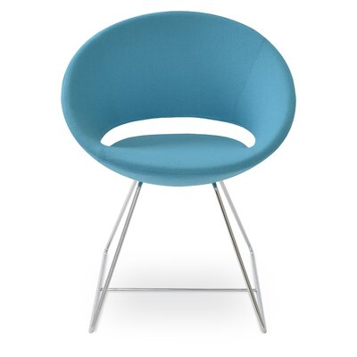 Crescent Wire Papasan Chair Upholstery: Camira Wool Turquoise