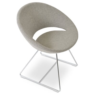 Crescent Wire Papasan Chair Upholstery: PPM Leatherette Silver