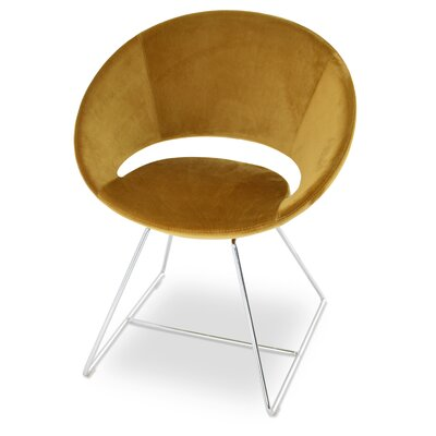 Crescent Wire Papasan Chair Upholstery: Velvet Gold