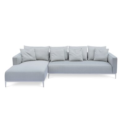 California Sectional Upholstery: Grey Brick, Orientation: Left Hand Facing