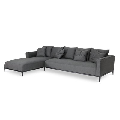 California Sectional Upholstery: Black Pepper, Orientation: Left Hand Facing