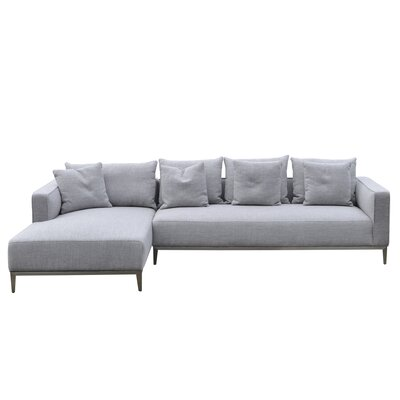 California Sectional Upholstery: Grey Tweed, Orientation: Left Hand Facing