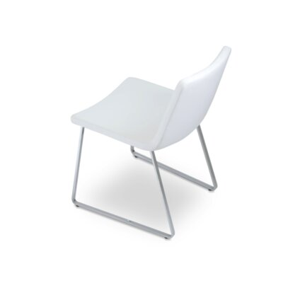 Roma Chair Upholstery: White