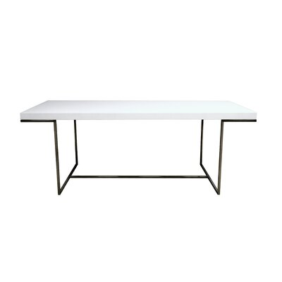 sohoConcept Madrid Dining Table - Size: Medium, Finish: White Lacquered