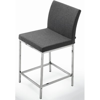 Aria 24 Bar Stool Upholstery: White Leatherette
