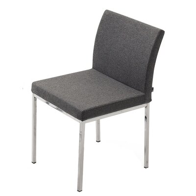 Low Price sohoConcept Aria Chrome Chair Upholstery: Red, Upholstery Fabric: Organic Wool Fabric