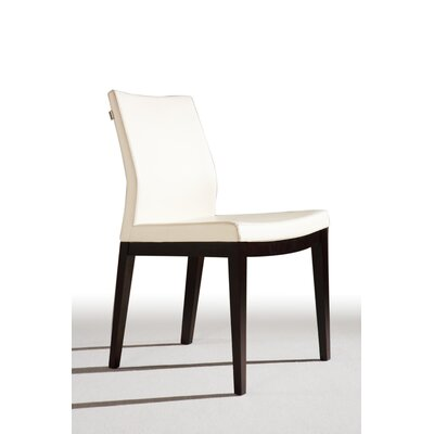 Low Price sohoConcept Pasha Side Chair Finish: Walnut, Color: Cream, Upholstery: Leatherette