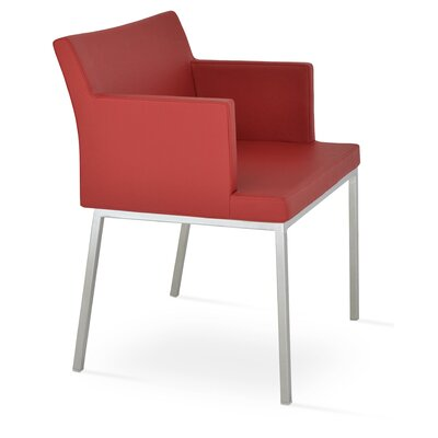 Parma Arm Chair Upholstery Type: Leatherette - Red