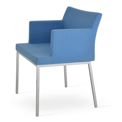 Parma Arm Chair Upholstery Type: Wool - Sky Blue