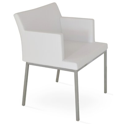 Parma Arm Chair Upholstery Type: Leatherette - White